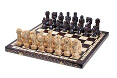 Gladiator Chess Set - Wooden Pieces & Folding Board