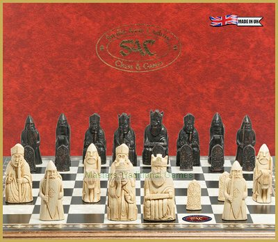 SAC Lewis Chessmen (without board) Ivory & Black