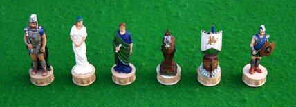 Italfama Battle of Troy Chess Pieces - Resin, Hand-Painted