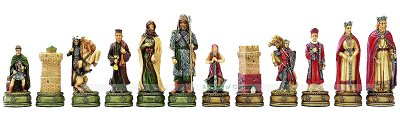 Italfama Camelot Chess Pieces - Resin, Hand-Painted