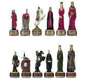 Italfama England vs Scotland Chess Pieces - Resin, Hand-Painted