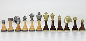 Italfama Classic Chessmen - Metal & Wood