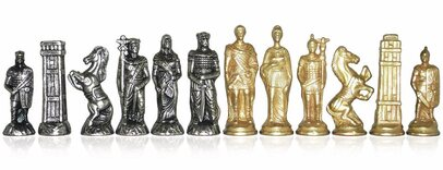 Italfama Romans & Barbarians Metal Chessmen
