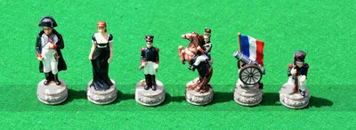 Italfama Waterloo Chess Pieces - Resin, Hand-Painted