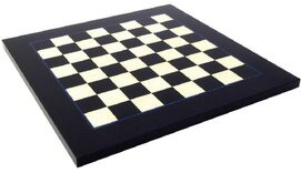 Italfama Briar Wood Chessboard - Black & White - 42cm