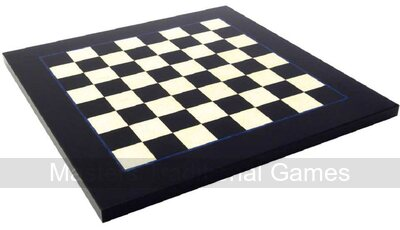 Italfama Briar & Erable Wood Chessboard - Black & White 42cm