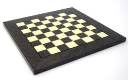 Italfama Briar & Erable Wood Chessboard - Grey & White - 42cm