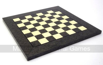 Italfama Briar & Erable Wood Chessboard - 42cm Grey & White