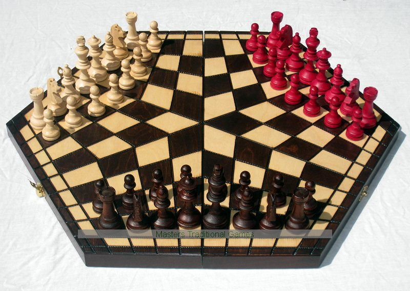 Three Player Chess Set Hexagonal For 3 Players