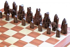 Isle of Lewis Cream & Brown colour Chess Pieces