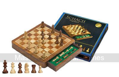 Philos 2725 'Exclusive' Magnetic Chess Cabinet Set