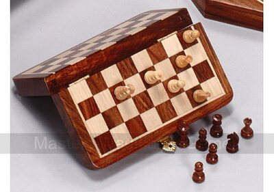 Westnedge Magnetic 7.5 inch Square Travel Chess with drawer
