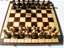 Old Polish style Chess set (pieces & board)