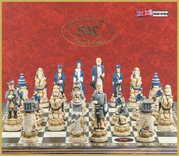 SAC American Civil War Chess Set, Hand-Painted (without board)