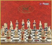 SAC Battle of Waterloo Chess Set (without board) Hand Painted