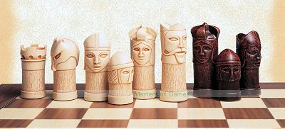 SAC Medieval Themed Masked Chess Men (without board)