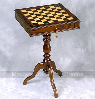 Giglio Lockable Cabinet Chess Table (43mm squares)