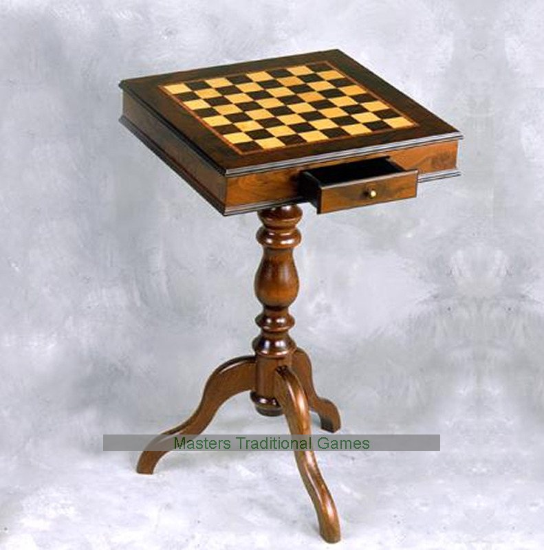 Giglio 40cm Square Chess Table with Drawer