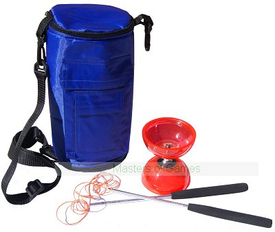 Cyclone Quartz 2  Diabolo (Red) with Bag (Blue)
