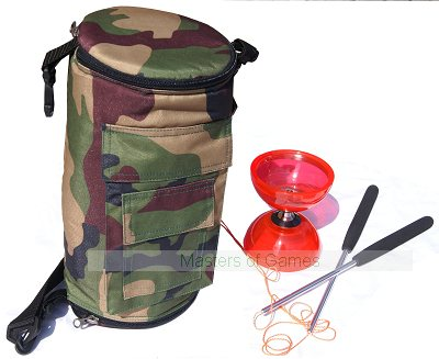 Cyclone Quartz 2 Diabolo (Red) with Bag (Camo)