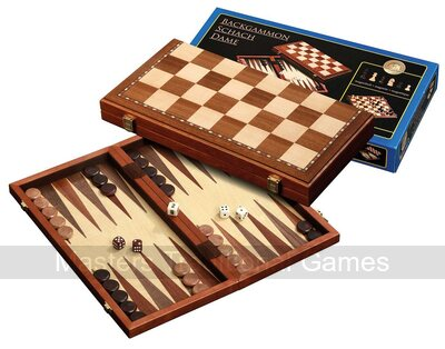 Philos Magnetic Chess, Backgammon, Checkers Compendium (40cm)
