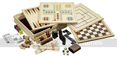 Philos Wooden Game Compendium - 30cm (8 games)