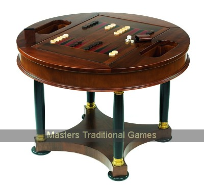 Dal Negro Round Games Table with 36cm roulette wheel