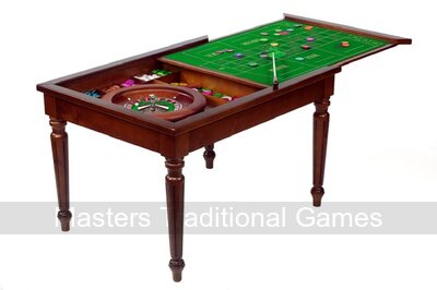 Dal Negro Rectangular Games Table with 50cm roulette wheel