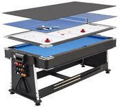 7ft 3-in-1 Revolver Pool / Air Hockey & Table Tennis