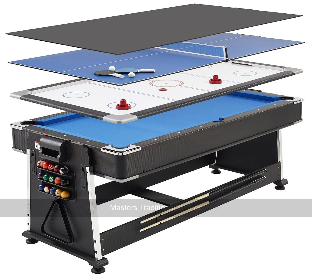 7ft 3-in-1 Revolver Pool , Air Hockey & Table Tennis Table