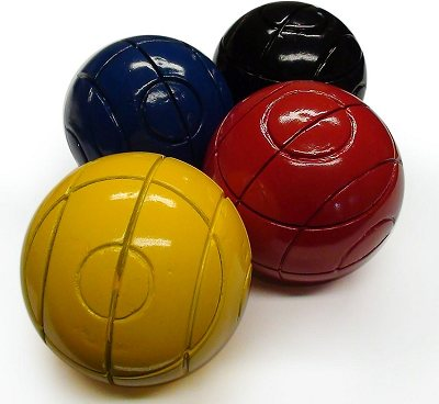 Set of Lawn Croquet Balls (lightweight, wooden, small size, 1st colours)