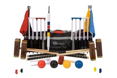 Uber Championship 6 Player Croquet Set with a bag
