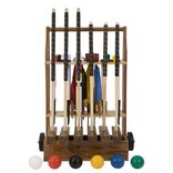 Uber Championship 6 Player Croquet Set with a stand