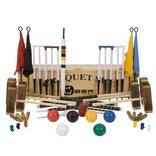 Uber Championship 6 Player Croquet Set with a wooden box