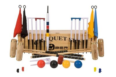 Uber Executive Croquet Set in a wooden box