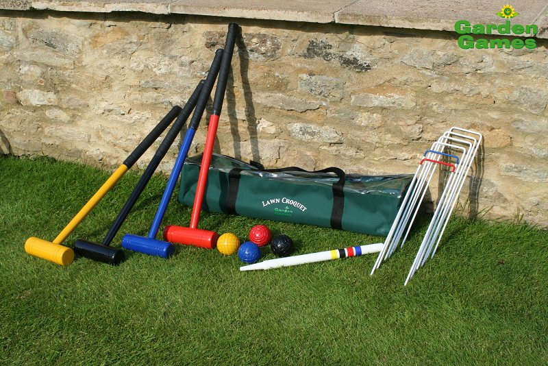 Click Any Picture For A Large Version Garden Lawn Croquet Set