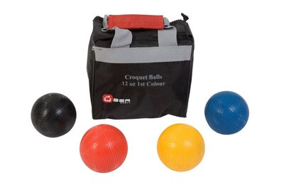 Uber Set of 4 Croquet Balls (12oz composition - 1st Colours)