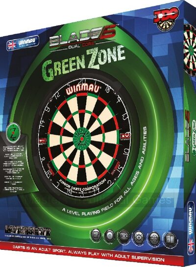 Winmau Blade 5 Green Zone Dual Core Dartboard