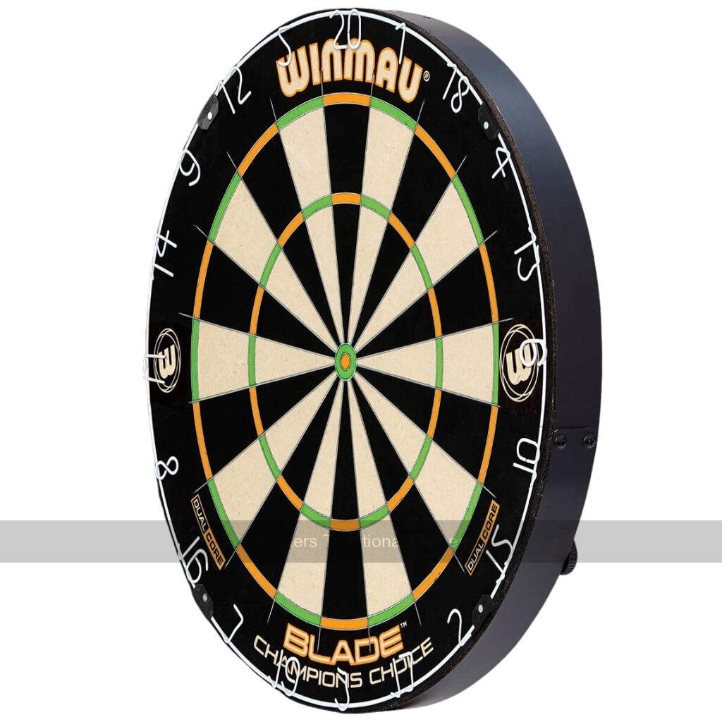 WINMAU BLADE 5 DUAL CORE  BRISTLE CHAMPIONSHIP DARTBOARD WITH ROTA-LOCK