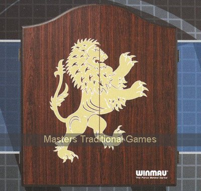Winmau Rosewood finish Darts cabinet with Golden Lion