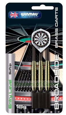 Winmau Broadside Softip Brass darts - 18 grams