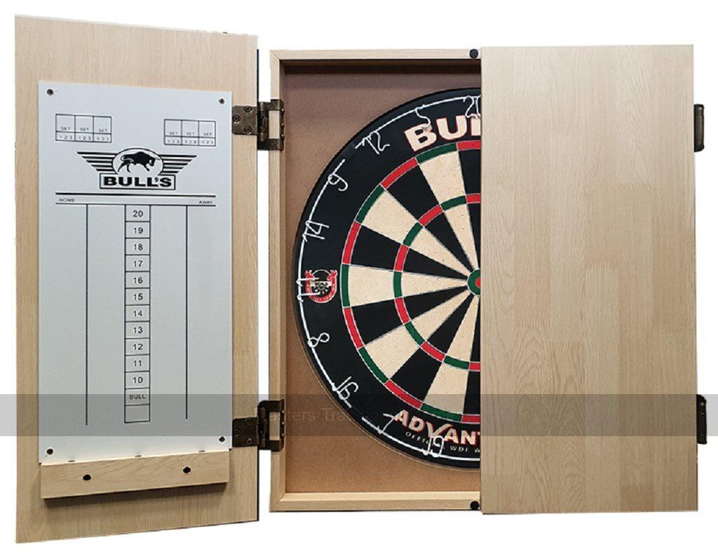 Bull S Deluxe Wooden Dartboard Cabinet