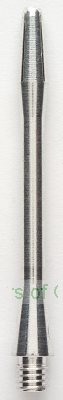 Plain Aluminium Darts shaft (pack of 3, medium length)