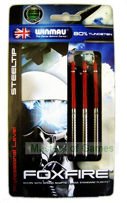 Winmau Foxfire 80% tungsten steel-tip darts - 23 grams