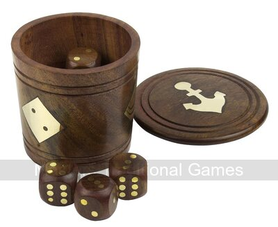 Pair of Wooden Dice Shakers