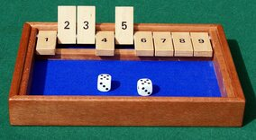 Hand-made Shut the Box - Mahogany frame with Ash tabs