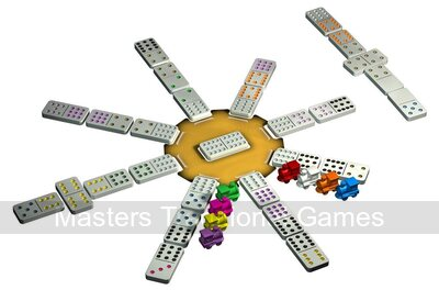 Tactic Mexican Train Dominoes