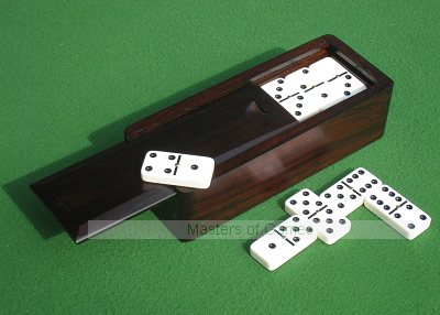 Tournament Double 6 Dominoes in a hardwood box