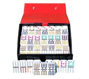 Double 15 Dominoes In Vinyl Case