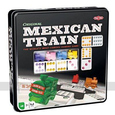 Tactic Mexican Train Dominoes in Tin